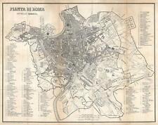 1823 Vandermeren City Map or Plan of Rome, Italy