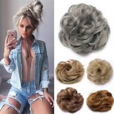 THICK Curly Messy Bun Hair Piece Scrunchie Natural Hair Updo Extension As Human
