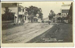 RPPC ~ Street Scene, GARBERVILLE, CALIF. ~ Humboldt County, California
