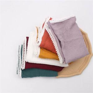 Muslin Soft Cotton Swaddle Stroller Towel Blanket Wrap Breathable Baby Swaddling