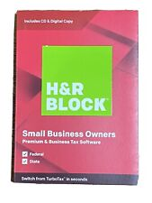 H&R Block Small Business Owners Premium & Business Tax Software 2019 Windows