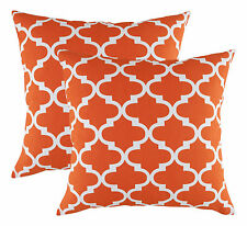 TreeWool 2 Pack Cushion Covers Trellis Accent in Cotton Canvas 40 X 40 Cm Cali