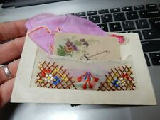 More details for ww1 soldiers silk handkerchief souvenir postcard   with hanky  ! +  mini card