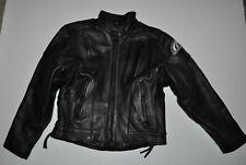 American Ironhorse Black Leather Motorcycle Jacket Womens Size M