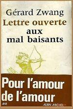 LETTRE OUVERTE AUX MAL BAISANTS par Gérard Swang - 1975 - EROTISME SEXUALITE