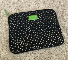 Kate Spade Black Polka Dot Padded Case Ipad Kindle Zip Pouch