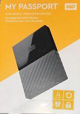 *BRAND NEW* WD 4TB Black USB 3.0 My Passport Portable External Hard Drive