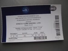STRICTLY COME DANCING LONDON 12/02/2017 OLD TICKET