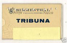 BASKET  PALLACANESTRO  TESSERA  ABBONAMENTO  SIMMENTHAL  MILANO  1967-68
