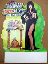 ELVIRA Coors Light Halloween Advertising Table Top Tent Standee M- 1995 Unused!!