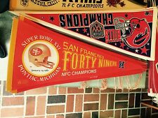 Super Bowl XVI Full Size Pennant San Francisco 49ers NFC Champs