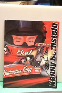 Kenny Bernstein NHRA Racing Original Autograph 8x10 Signed NHRA Card