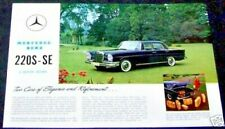 mercedes 220s 220se owners sales brochure w111 original new