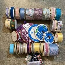 Large Lot of Vintage Ribbon Crafting Assortment of Sizes and Colors 3 Pounds