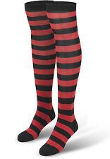urban Classics Ladies Striped Socken In Schwarz-rot 36/39