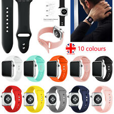 For Apple Watch iWatch Series SE 6 5 4 3 38/40/42/44mm Silicone Sport Strap Band