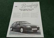March 1987 Vauxhall ASTRA inc SRi BRIEFING BROCHURE - V6583