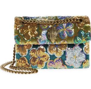 Kurt Geiger London Mini Kensington Sequin Floral Bag NWT Chain Strap Eagle