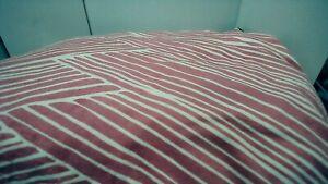 "Kess InHome Pink ZigZag Fleece Dog Bed Large 30x40"""