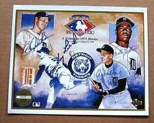 1968 Detroit Tigers 8 x 10  sheet signed by: Kaline, Horton, Lolich, Freehan +