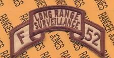 F 52 LRS Corps Airborne Ranger scroll patch DESERT