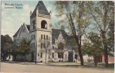 1910 LAWRENCE Kansas Kans Ks Postcard METHODIST CHURCH