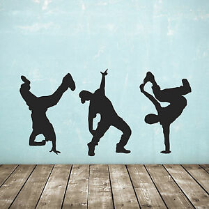 Street Dance Wall Stickers - Pack of 3 - Hip Hop Dancer Decals
