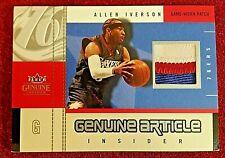 2003-04 Fleer Genuine Insider Article Jerseys Patch #GAP-AI Allen Iverson /50