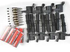 8 USA HEAVY DUTY COILS DG511 & 8 MOTORCRAFT PLUGS SP515/SP546 BLACK