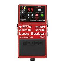 Boss RC-3 Loop Station Stereo Stompbox Guitar & Bass Looper Pedal With USB 2.0