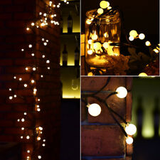 2.5M Black Twig 72LED Berry Globe Lights String Mains PlugIn Fairy Xmas Outdoor
