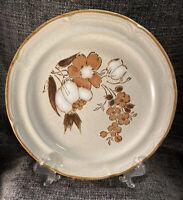 "Set Of Two (2) Hearthside Stoneware Autumn Fair Baroque Dinner Plates 10"" Japan"