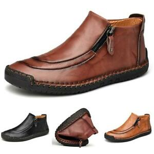 Men's Driving Moccasins High Top Ankle Boots Shoes Leather Soft Comfy Breathable