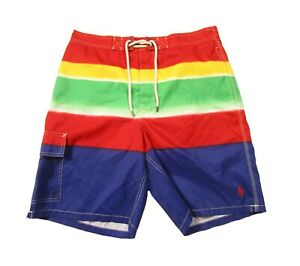 "Polo Ralph Lauren Men's Multicolor Stripe 8.5"" Swim Trunks"