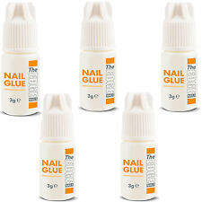 5 x il bordo NAIL TIP COLLA 3g super forte colla FALSE unghie TIP