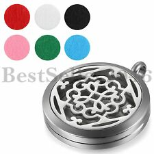 """18"""" Stainless Steel Aromatherapy Essential Oil Diffuser Necklace Locket Pendant"""