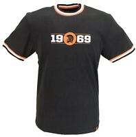 Trojan Records Mens Black/Orange 1969 Logo 100% Cotton Peach T-Shirt