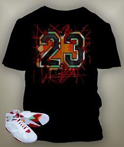 23 Bunny T-shirt To match Hare Air Retro Jordan Size S-7 XL Black Short Sleeve