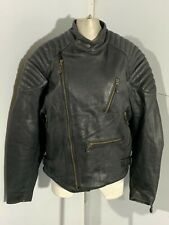 VINTAGE 80'S MIRAGE LEATHER MOTORCYCLE JACKET SIZE 46 / XL