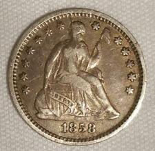 1858-O Liberty Seated Half Dime; Appears VF; Mintage 1.66 Million, Survival 800!