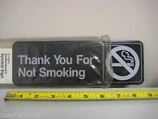 """""""Thank you for not smoking"""" Symbol Sign (20521) - W.T. Rogers - Made in USA"""