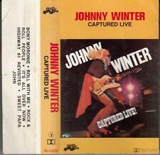 "K 7 AUDIO (TAPE)  JOHNNY WINTER  ""CAPTURED LIVE"""