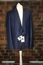 PAUL SMITH BLUE CHECK/PLAID WOOL JACKET SIZE 38 NWT