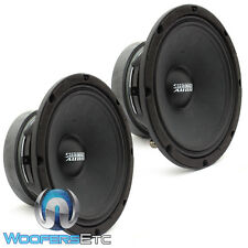"PAIR SUNDOWN AUDIO SXMP-8 8-OHM 8"" 250 RMS MIDRANGE CAR DRIVER MIDS SPEAKERS NEW"