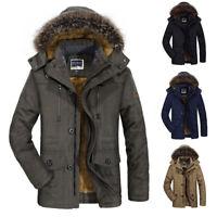 2019 Hot Winter Men's Cotton Coat Thicken Warm Hooded Parka Fur Jacket Outwear