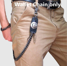 Hip Hop Punk Bikers Rock Skull Jeans Wallet Belt Heavy Key Holder Waist Chains
