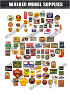 1/43 scale Pre-cut Vintage style Garage sign stickers diorama/model car. 1