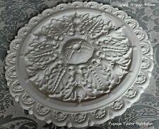 """Plaster Ceiling Rose Grand Victorian Design 495mm / 20"""" Handmade UK"""