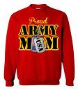 Proud Army Mom Sweater Military USA Flag Crewneck Sweatshirt gift for moms