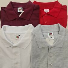 FRUIT OF THE LOOM POLO SHIRTS. VARIOUS COLOURS, UNISEX *EL360